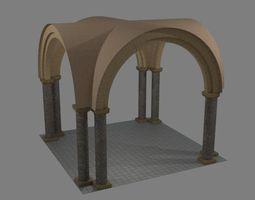 3D asset Norman Arch and pillars