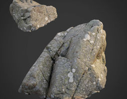 3d scanned nature stone 028 game-ready