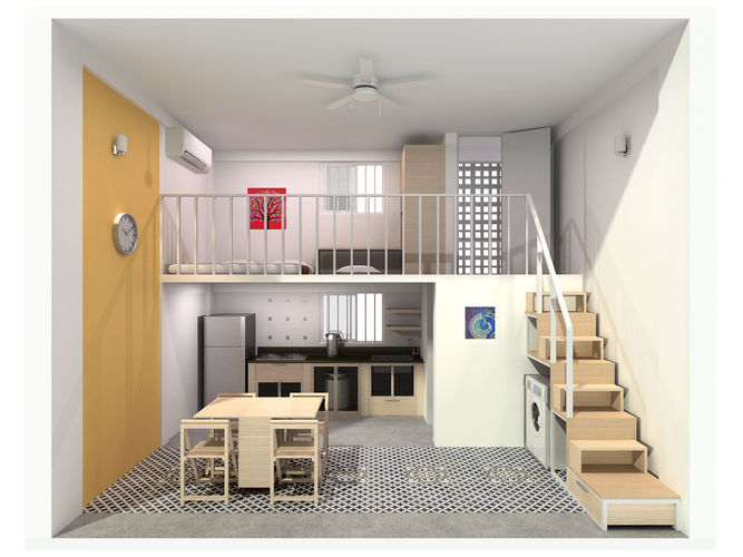 Single Compact Apartment Model Max 1