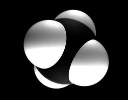 Methane molecule 3D model