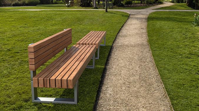 bench 3d model max obj 3ds fbx 1