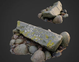 realtime 3d scanned nature stone 030