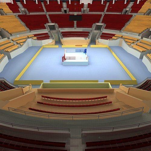 boxing arena 3d model max obj fbx 1