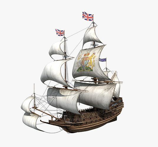 sail ship 3d model max obj mtl fbx 1