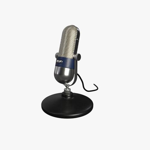 vintage microphone 3d model obj mtl fbx blend dae 1