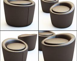 3D Pouf Loren