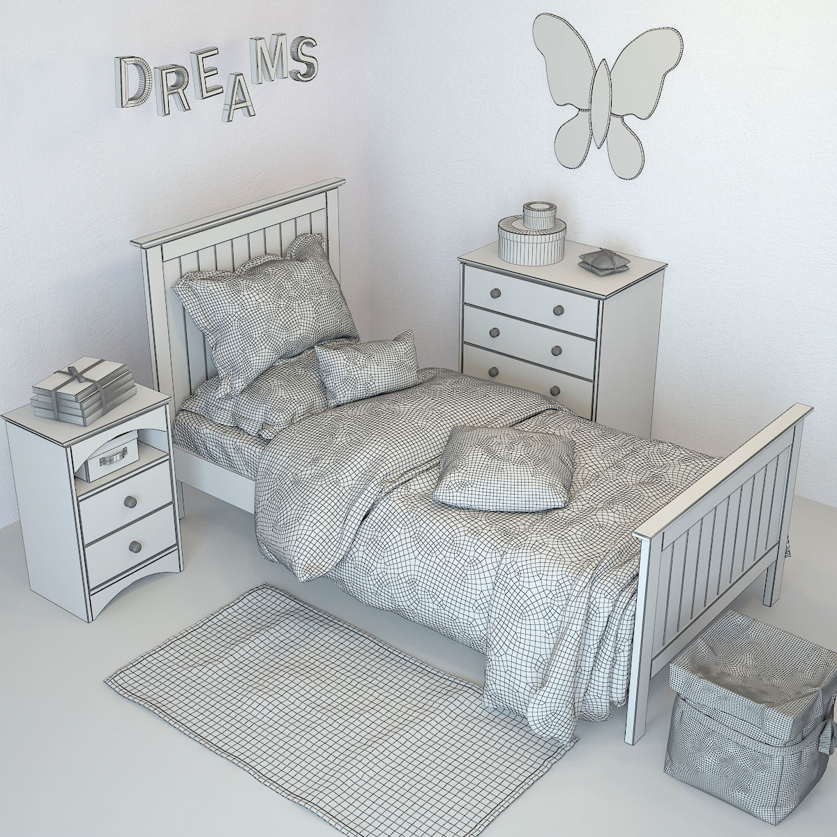 Nursery Furniture Barney 01 Model Max Obj Mtl Fbx 6