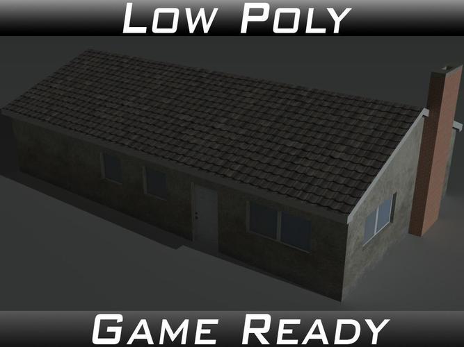 house 11 3d model low-poly obj 3ds fbx mtl 1