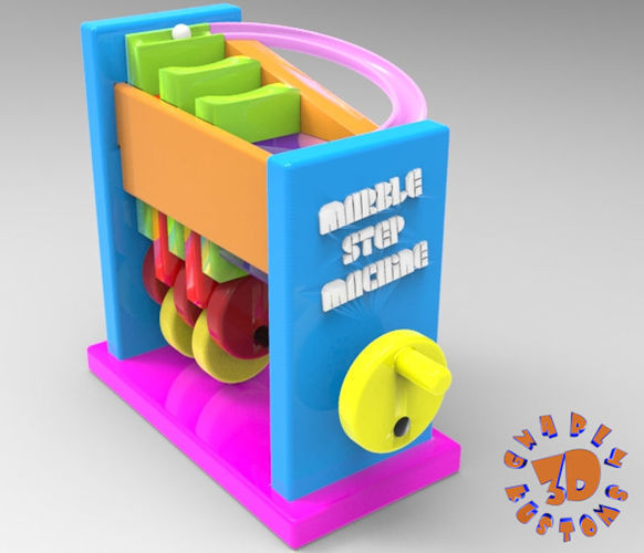 marble step machine automata toy 3d model stl 1