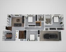render 3d floor plan