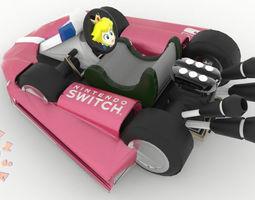 3D printable model Princess Peach Kart Nintendo Switch 3