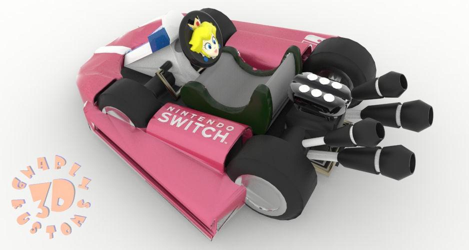 Princess Peach Kart Nintendo Switch Joy Con Controller