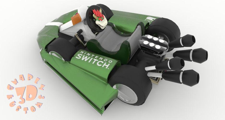 Bowser Kart Nintendo Switch Joy Con Controller