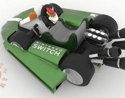 3D print model Bowser Kart Nintendo Switch Joy Con
