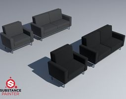 3D model Fabric couches PBR