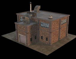 3D model Small Industrial Building 02