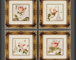 Picture Frames 3D asset realtime framed decoration