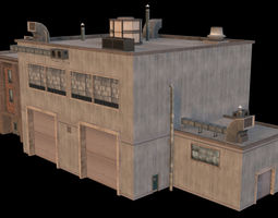 3D asset Industrial Storage Building 03