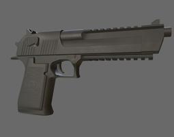 Desert Eagle 3D asset rigged