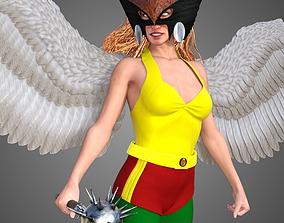 Hawkgirl - Hawkwoman 3D animated