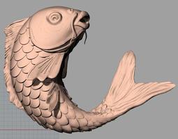 Animal Sculpture Model Fish carp A135 3d 3D