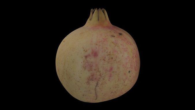 pomegranate pbr 3d model low-poly obj mtl 3ds fbx 1
