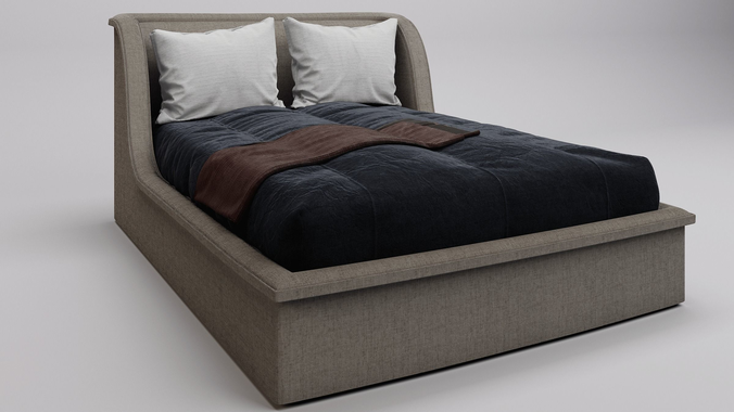 3d modern bed model cgtrader