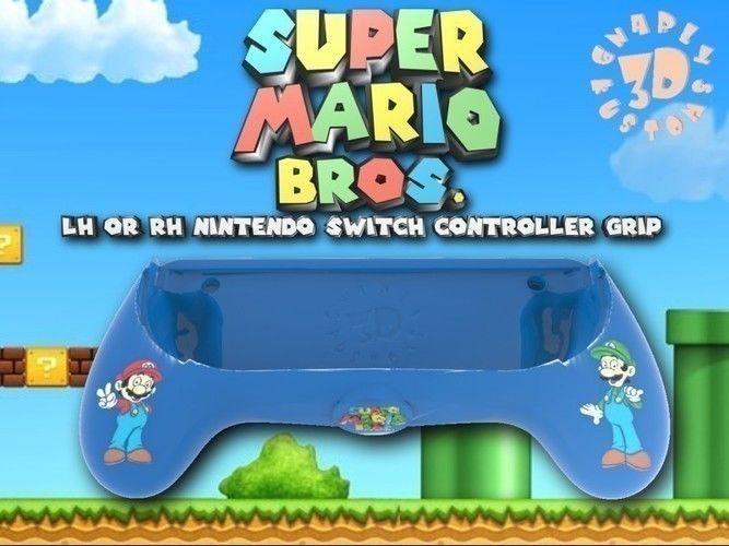 Ergonomic Super Mario Bros Joy Con Assist Grip Controller | 3D Print Model