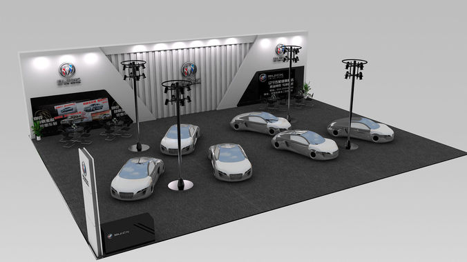 Food Exhibition Stall : Exhibition stall for car d model cgtrader
