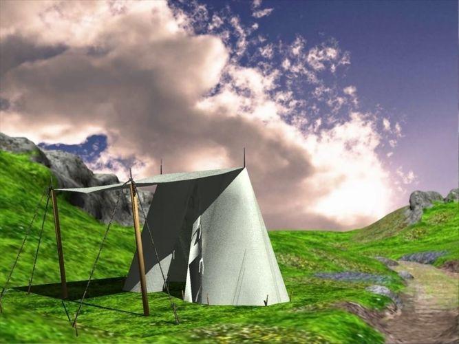 medieval wedge tent 3d model obj mtl fbx dxf 1