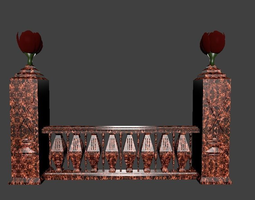 Architectural Balustrade - 5 Swords and Tulips for 3D 1