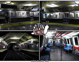 Snail Metro - Low Poly Metro Underground Station 3D asset