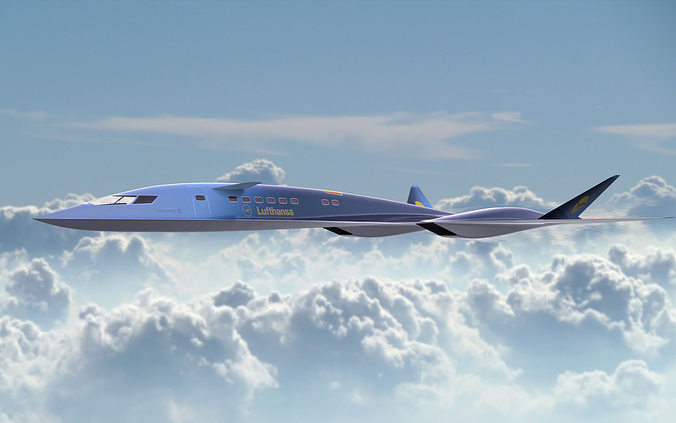 Aqsst Mk2 Supersonic Business Jet 3d Cgtrader