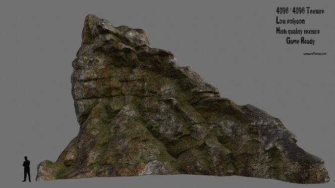 mountain 8 3d model low-poly obj mtl fbx blend 1