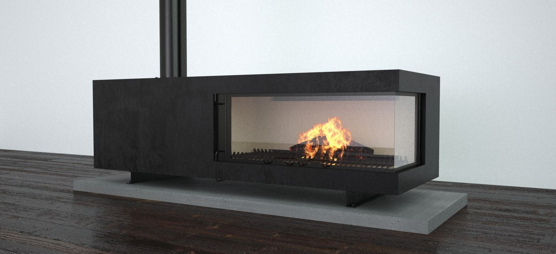 fireplace 3D steel | CGTrader