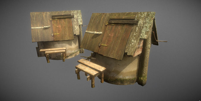 scanned photorealistic old water well 3d model max obj mtl 3ds fbx ma mb tga 1