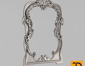 3D print model the frame for the mirror boroko