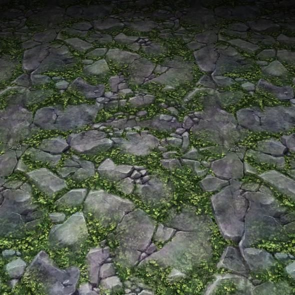 ground stone grass tile 04