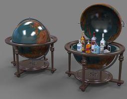 Globe 3D model low-poly