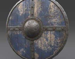 3D asset Viking Shield Old