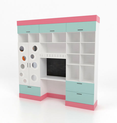 48D Wardrobe Kidsfurniture CGTrader Best Ids Furniture Model