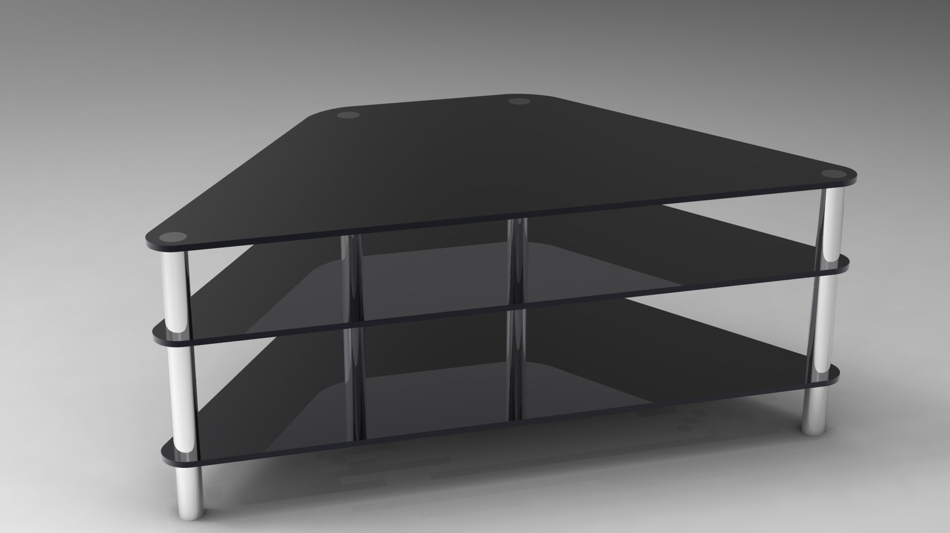 Glass TV Stand 3D model