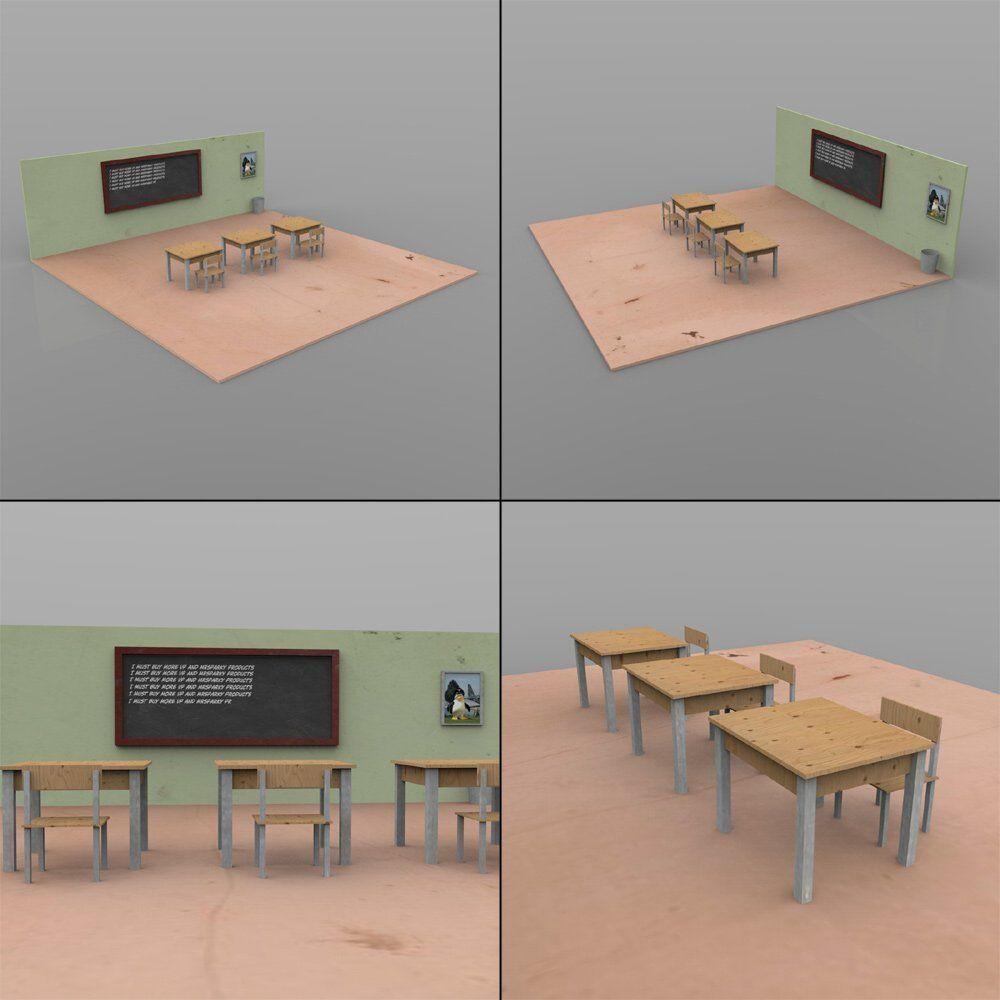 ... American High School For Daz Studio 3d Model Duf 7