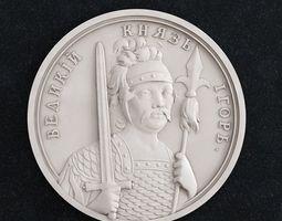 Coin Velikii Kniyaz Igor 3D print model badges