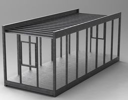 Modular Cabin Structure 3D