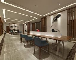 3D Office meeting room reception hall 40