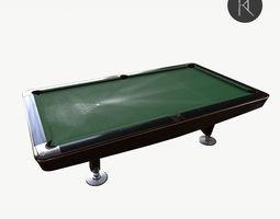 3D model Dynamic II pool table