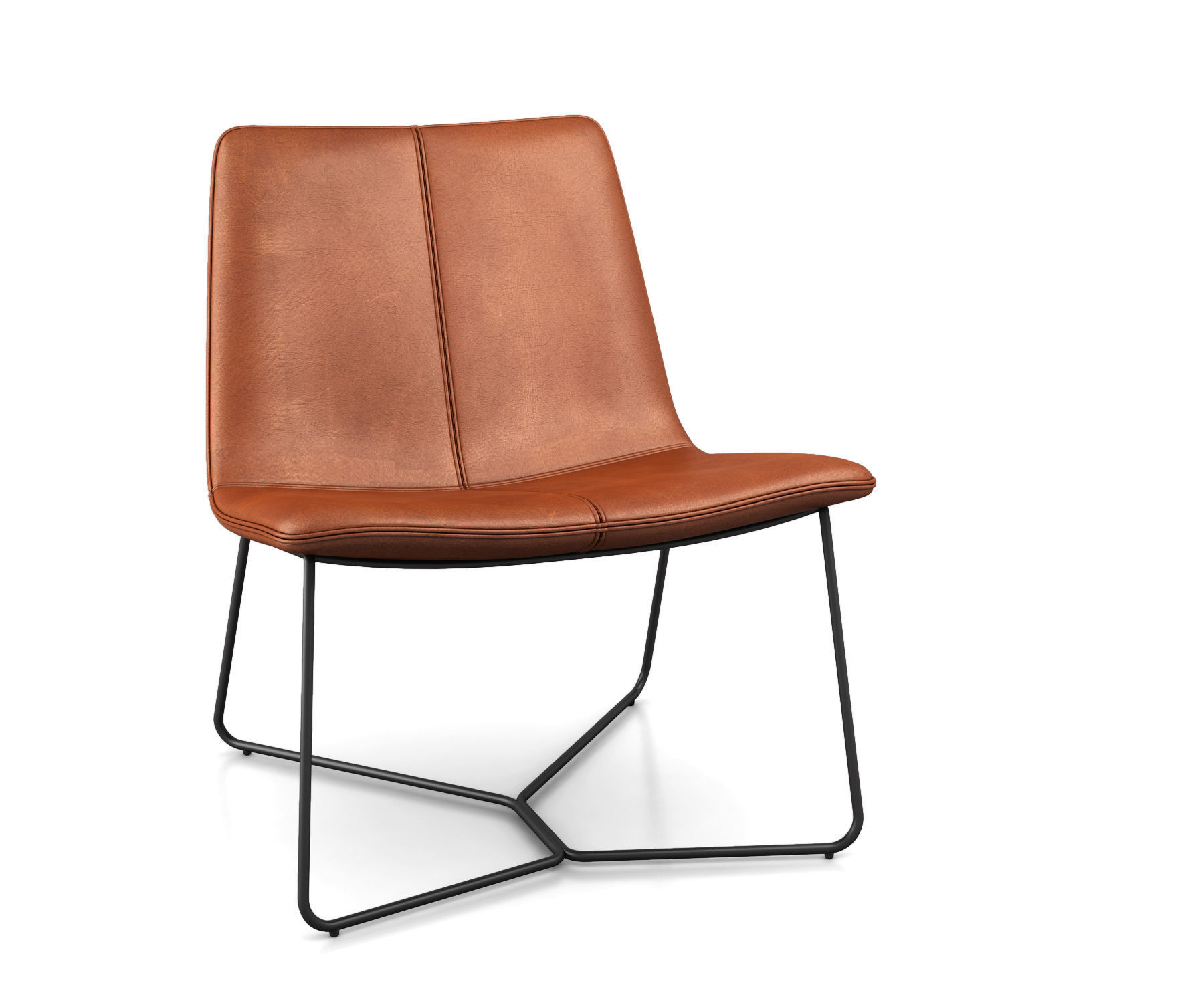 Slope Leather Lounge Chair by West Elm
