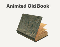 Old Book Rigged 3D animated