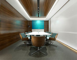 3D model Conference room office reception hall 01